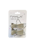 2er Clips - taupe