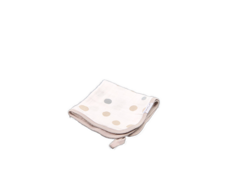 Washcloth - dots beige & grey