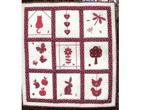 The Red Garden - Quilt Kit