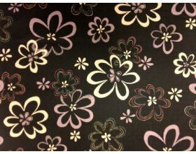 Big Flower Black - Japanese Fabric
