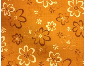 Big Flower Burnt Orange - Japanese Fabric