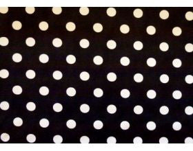 Black with Large White Spots - Fabric