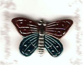 Butterfly Dark Red and Blue - 20mm