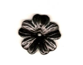 Black Leather Button - 40mm