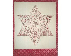 Christmas Blessing Star - Pre Printed Stitchery