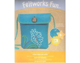 Blue Felt Purse - Kit