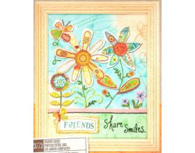 Friends Share Smiles - Embroidery Kit