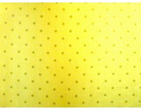 Gold with Pale Green Spots - Fabric