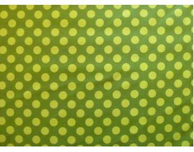 Green with Large Lime Spots - Fabric