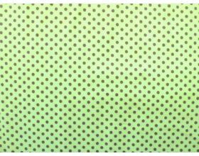 Pale Green with Brown Dots - Fabric