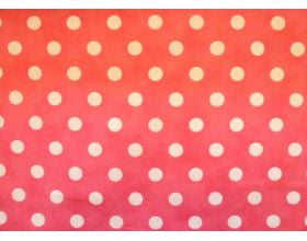 Pink with Large White Spots - Fabric