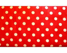 Red with Large White Spots - Fabric