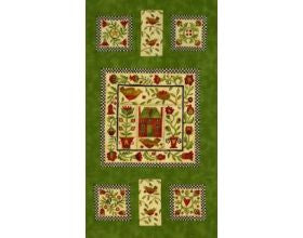 Round Robin Green - Fabric Panel