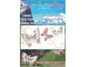 Silver Butterflies - Embroidery Kit
