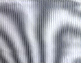 Black Stripe on White - Fabric