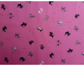 Cat Happy Pink - Japanese Fabric