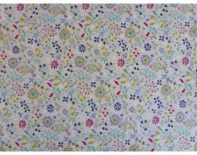 Flower Magic Blue - Japanese Fabric