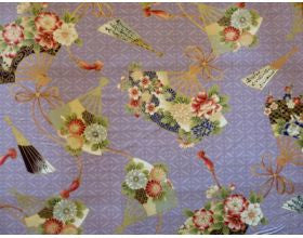 Garden Fans Lilac - Japanese Fabric