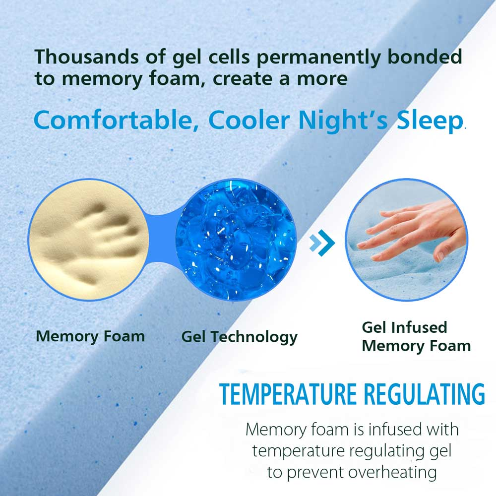 gel infused memory foam cooler sleep
