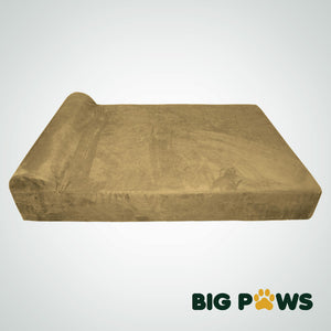 Big Paws memory foam dog bed giant size beige
