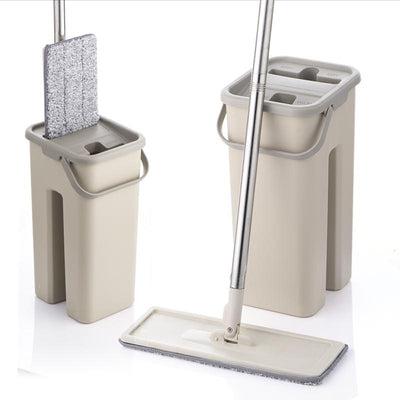 1 Flat Squeeze Mop and Bucket