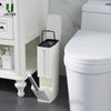 1 6L Plastic Trash Can with Toilet Brush Set