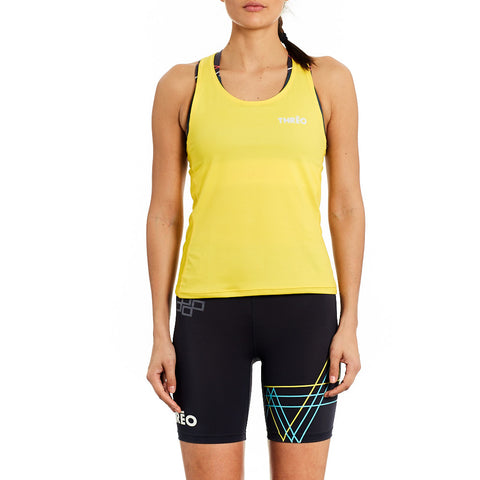 Running Singlet - 'Battersea Park' Yellow