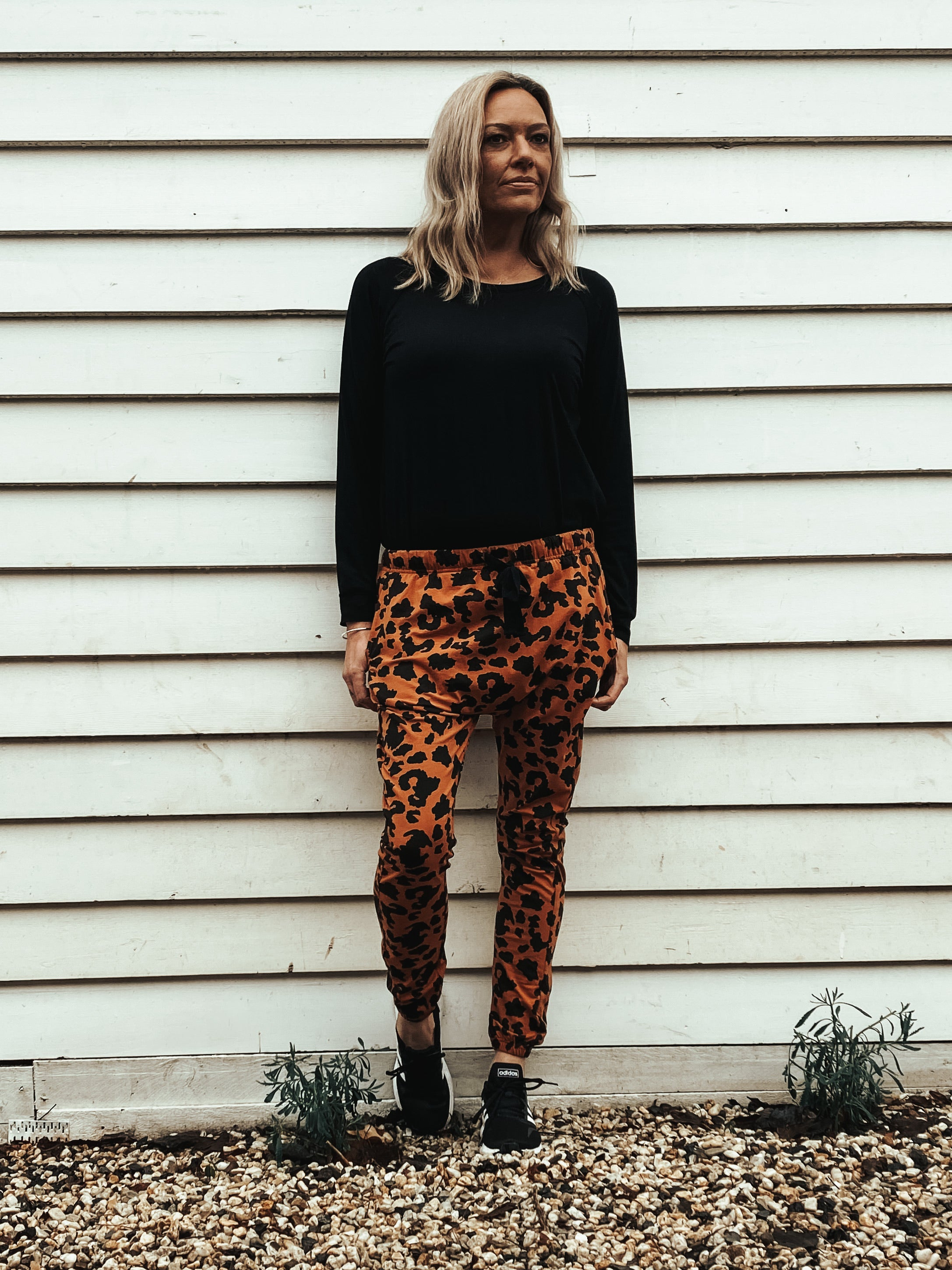 Ryder Joggers - Rust Leopard