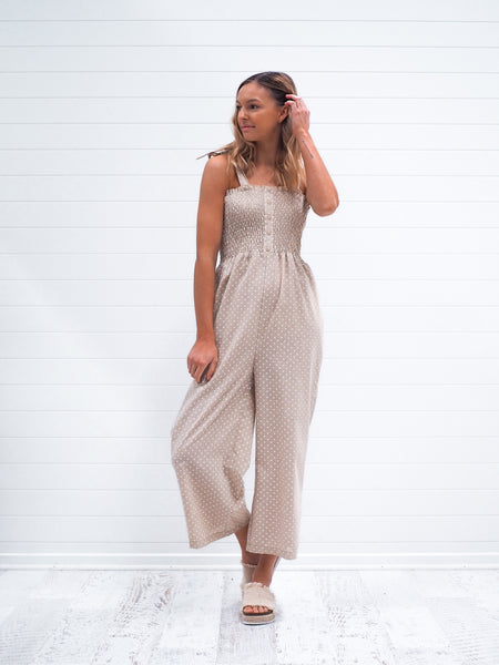Allira Jumpsuit - Beige