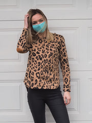 Carter Top Brown Leopard - Was $49.95