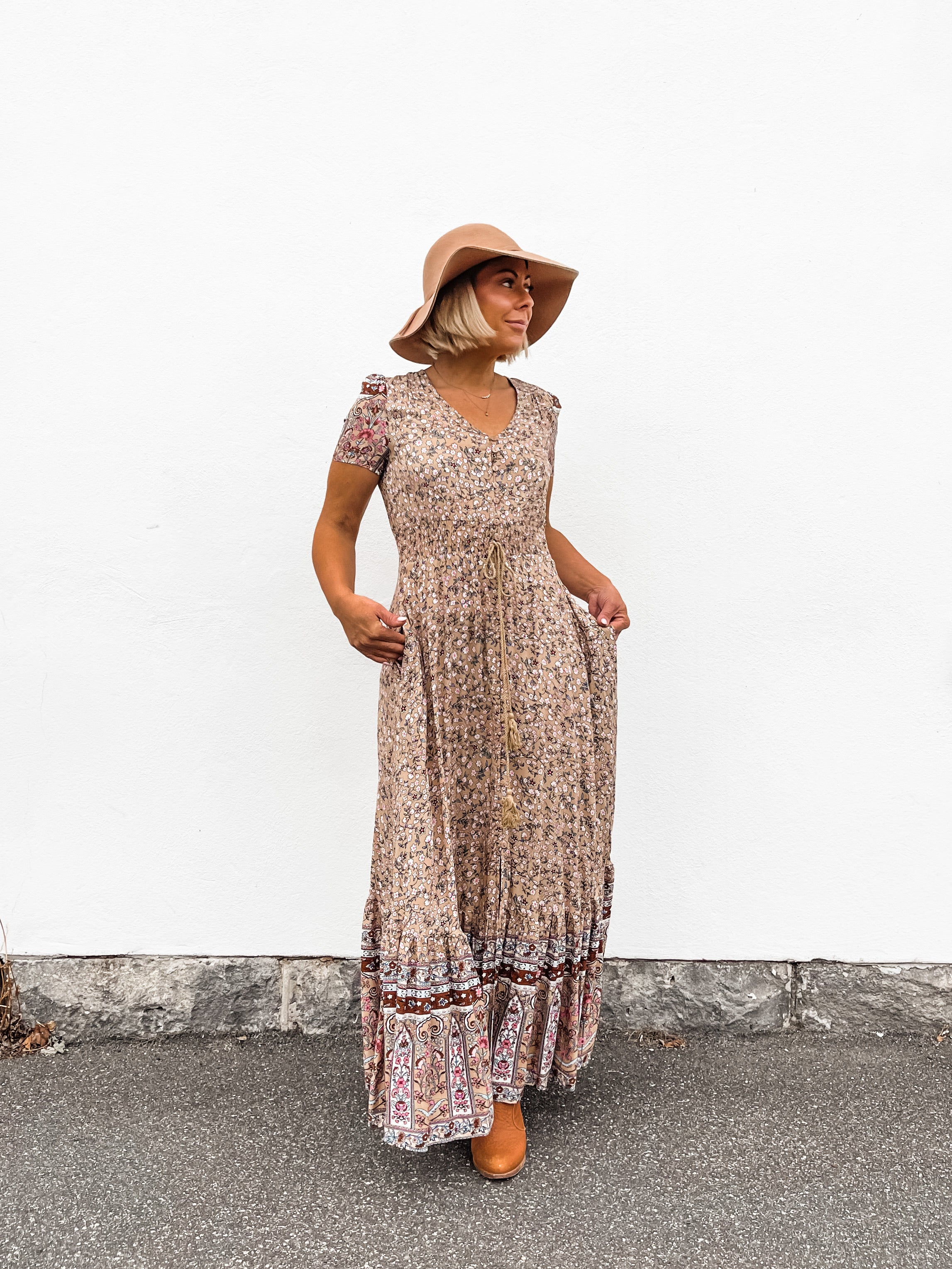 Madeleine Maxi Dress - Taupe