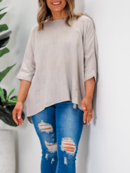 Genevieve Top - Grey