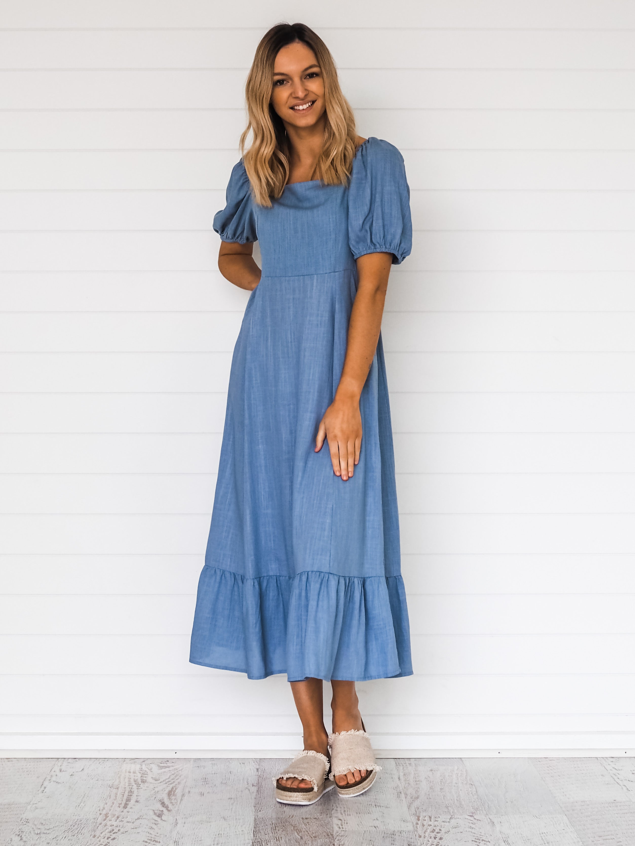 Mara Dress - Blue