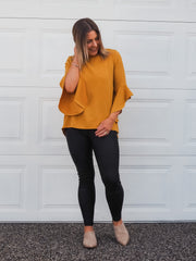 Prue Blouse Mustard - Was $49.95
