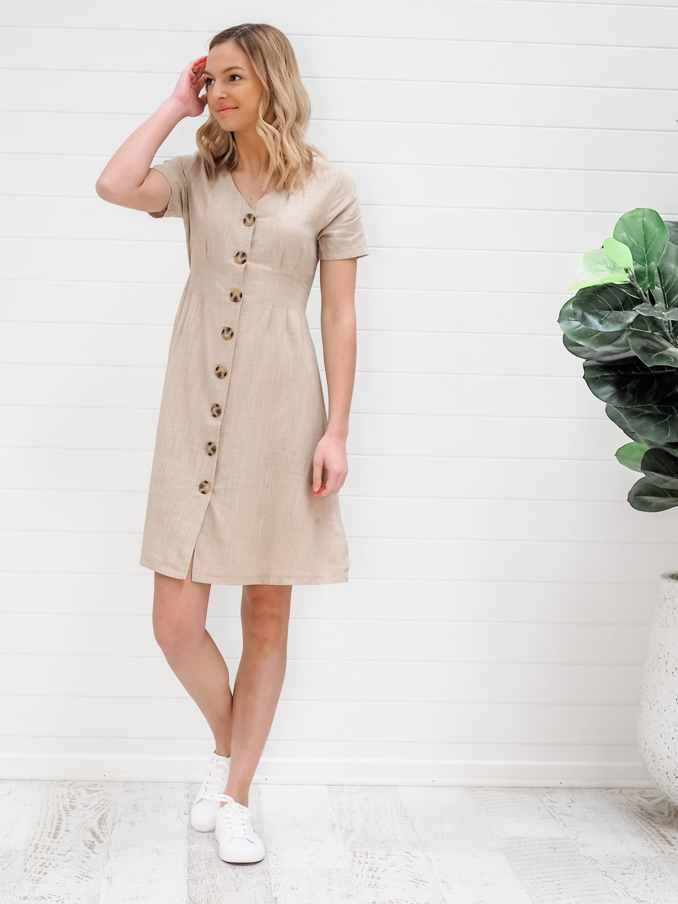 Shiloh Dress - Oatmeal