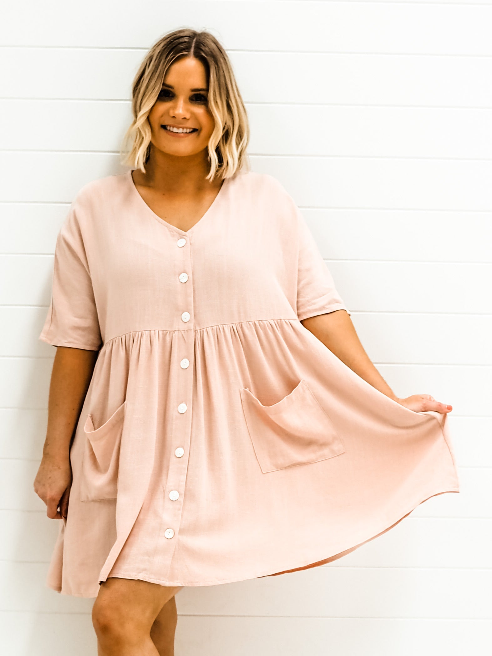 Kenzie Dress - Blush