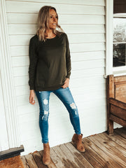 Briar Long Sleeve Tee - Khaki