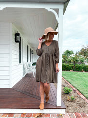 Nikita Dress - Khaki