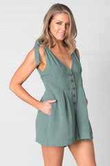 Noosa Playsuit Sage - Was $59.95