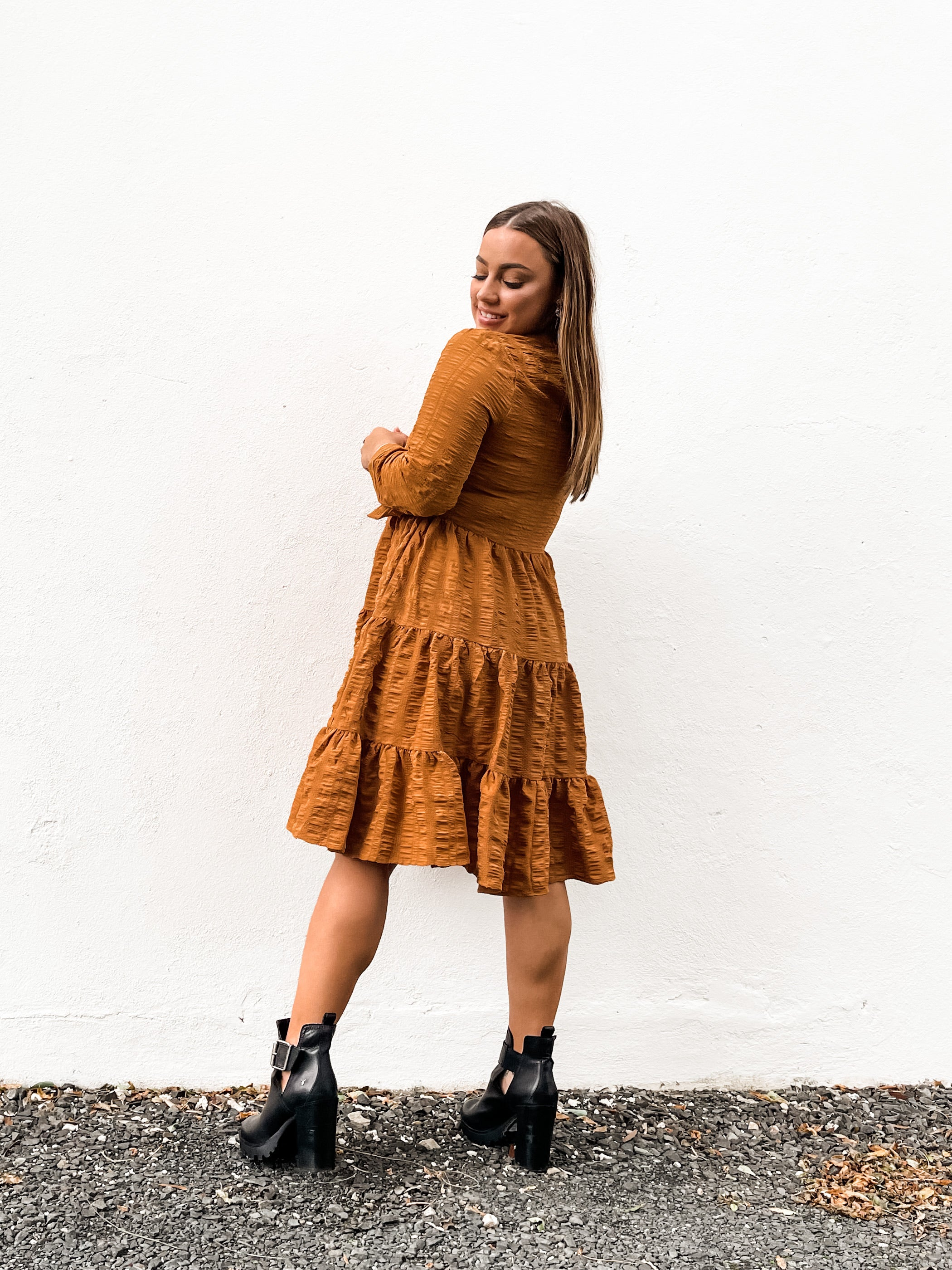 Savannah Dress - Rust
