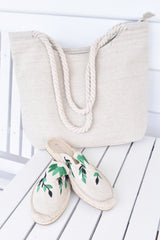 Fiesta Canvas Mule  Natural  - Was $49.95