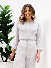 Olivia Top - Light Grey