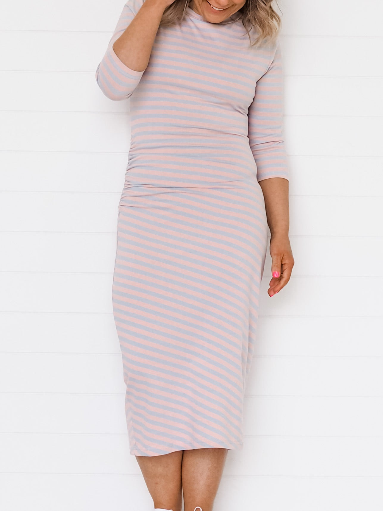 Jenna Dress - Pink/Blue