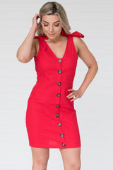 Colette Dress Cherry Red - Was $59.95