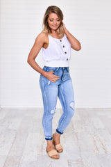 Jasmine Top White - Was $49.95