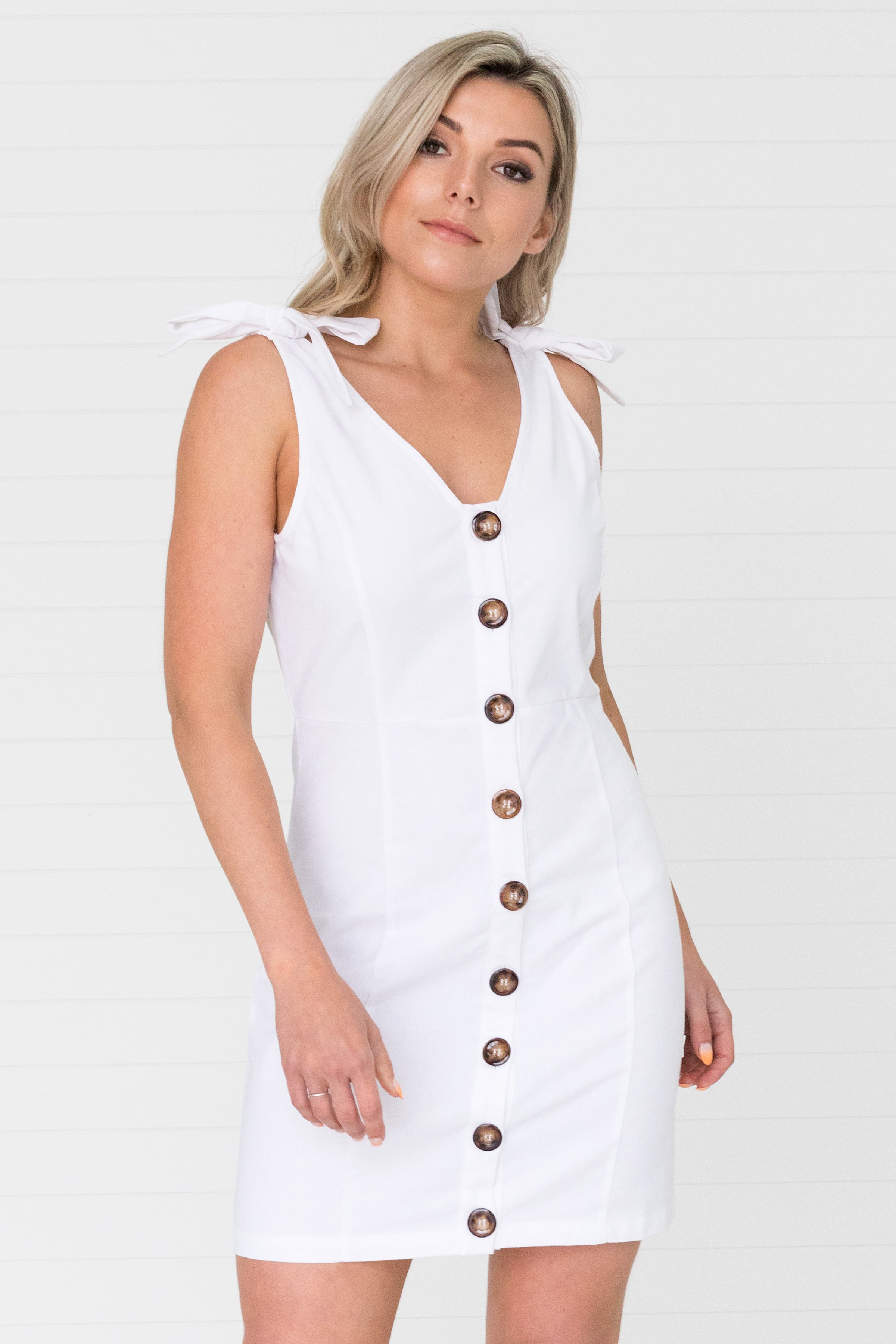 Colette Dress White - Was $59.95