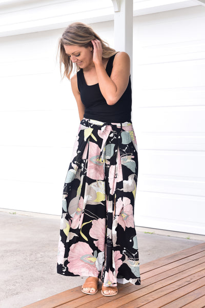 PRE- ORDER Fern Culottes - Blush and Black