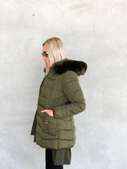 Riley Coat Khaki - Was $79.95