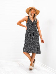 Zala Dress - Black Leopard