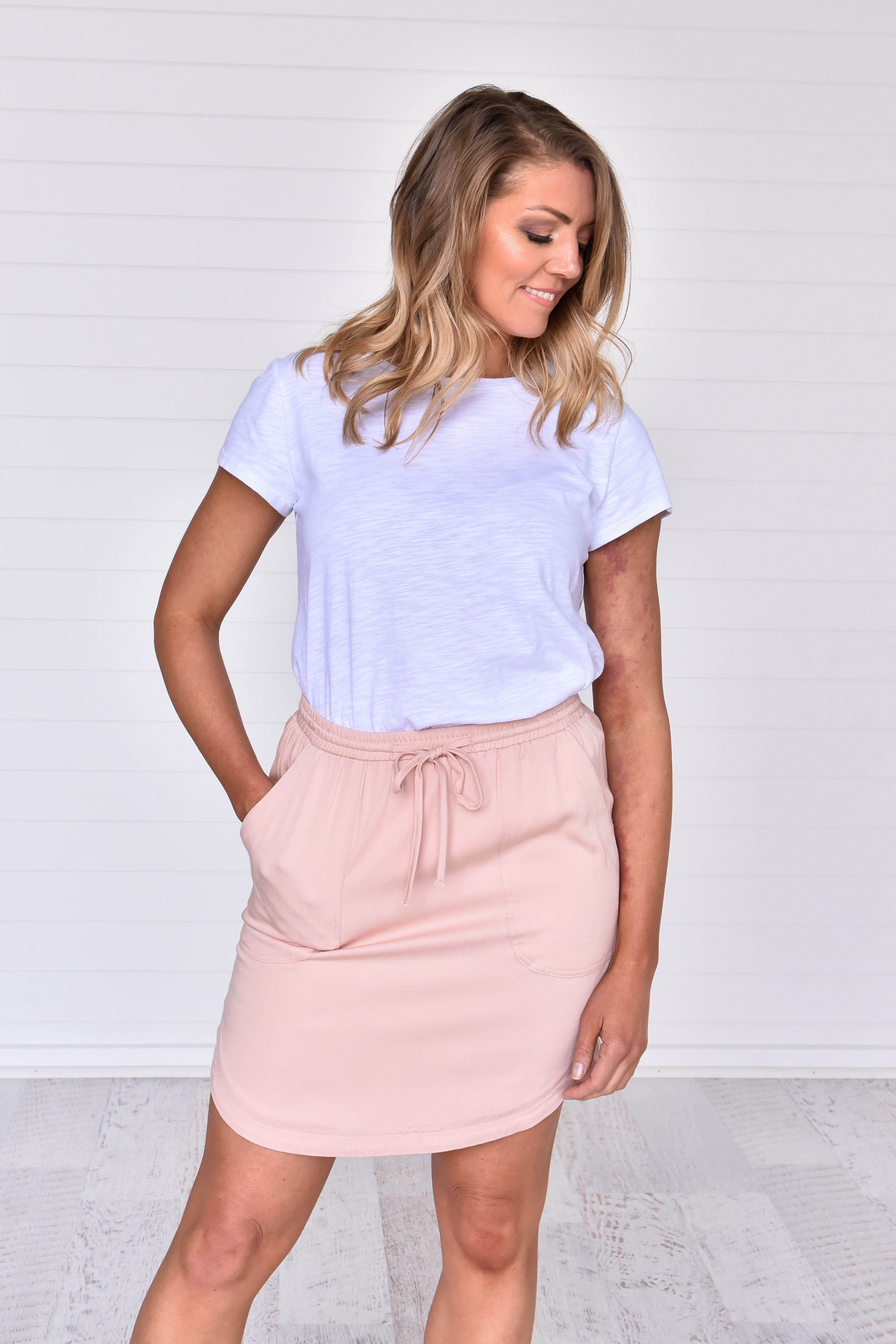 Baylee Skirt Pink - Was $49.95